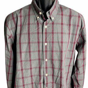 UnTuckit Wrinkle Free Andradas Shirt XL Grey Plaid